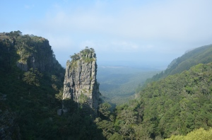The Pinnacle Rock nabij Graskop, Mpumalanga.