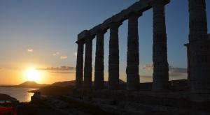 Kaap Sounion nabij Athene