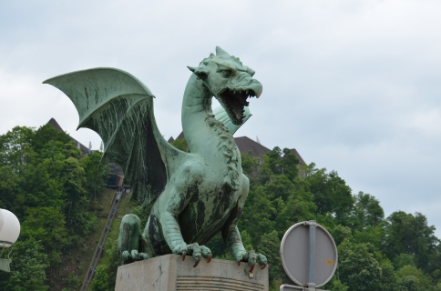 De draak, hét symbool van Ljubljana.