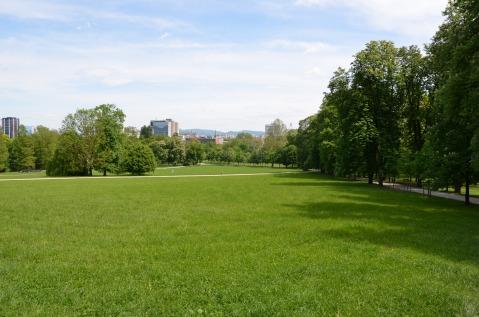 Tivoli Park, het grote stadspark.