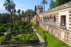 Een van de vele tuinen van het Alcázar Real.