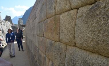 De Inca's staan bekend voor hun stevige muren.