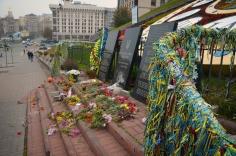 Herdenkingsmonument op Maidan in Kiev