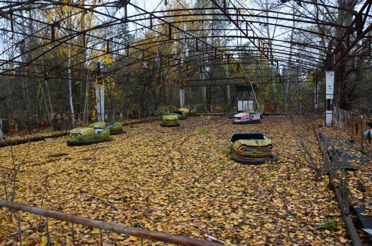 Pretpark in Prypjat, nabij Tsjernobyl