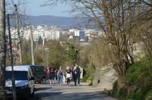 Heel wat inwoners van Banja Luka trekken op zondag de heuvels in.