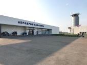 De luchthaven van Banja Luka. Officieel de kleinste die ik ooit gezien heb.